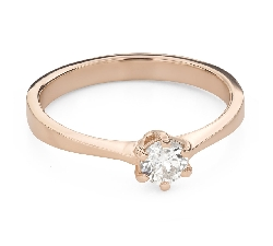"""Engagement ring with brilliant """"The queen 76"""""""