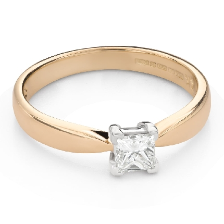 """Teemantiga kihlasõrmus """"Printsess 115"""""""