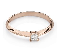 """Teemantiga kihlasõrmus """"Printsess 117"""""""