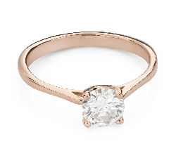"""Engagement ring with brilliant """"Goddess 217"""""""