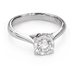 """Engagement ring with brilliant """"Strength 141"""""""