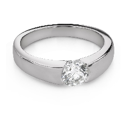 """Engagement ring with brilliant """"Between the rocks 63"""""""