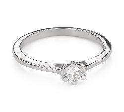 """Engagement ring with brilliant """"Queen of the Heart 38"""""""