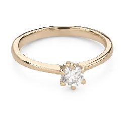 """Engagement ring with brilliant """"The queen 82"""""""