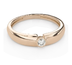 """Engagement ring with brilliant """"Between the rocks 64"""""""