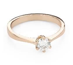 """Engagement ring with brilliant """"The queen 86"""""""