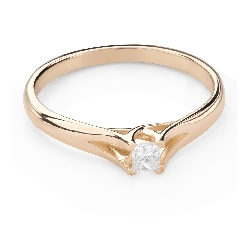 "Engagement ring with diamond ""Princess 131"""