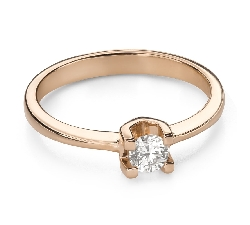 """Engagement ring with brilliant """"Strength 144"""""""