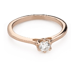 """Engagement ring with brilliant """"Queen of the Heart 44"""""""