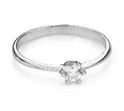 """Engagement ring with brilliant """"The queen 92"""""""