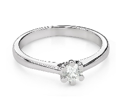 """Engagement ring with brilliant """"The queen 93"""""""
