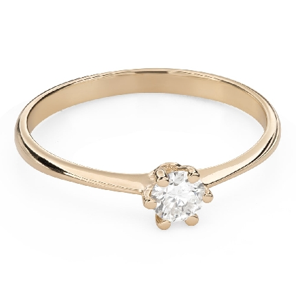 """Engagement ring with brilliant """"The queen 94"""""""