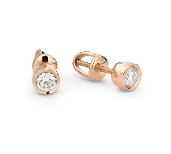 """Gold earrings with brilliants """"Classic 68"""""""