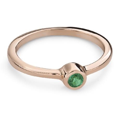 """Vääriskiviga kihlasõrmus """"Smaragd 23"""""""