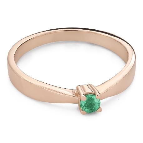 """Vääriskiviga kihlasõrmus """"Smaragd 24"""""""