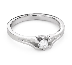 """Engagement ring with brilliant """"The only one 175"""""""
