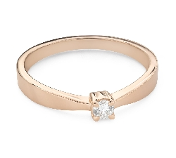 """Engagement ring with brilliant """"Strength 163"""""""