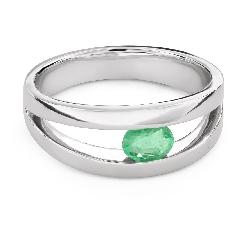"""Vääriskividega kuldsõrmus """"Smaragd 28"""""""