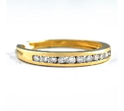 """Briljantidega kuldsõrmus """"Teemantidega lint 12"""""""