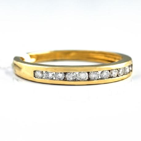 "Gold ring with brilliants ""Diamond strip 12"""