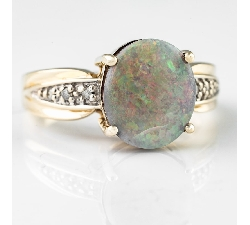"Gold ring with gemstones ""Colors 14"""