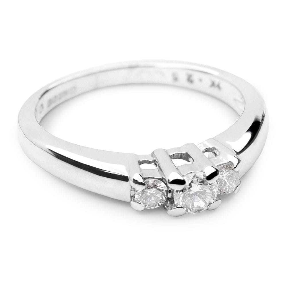 """Engagment ring with brilliants """"Trilogy 2"""""""